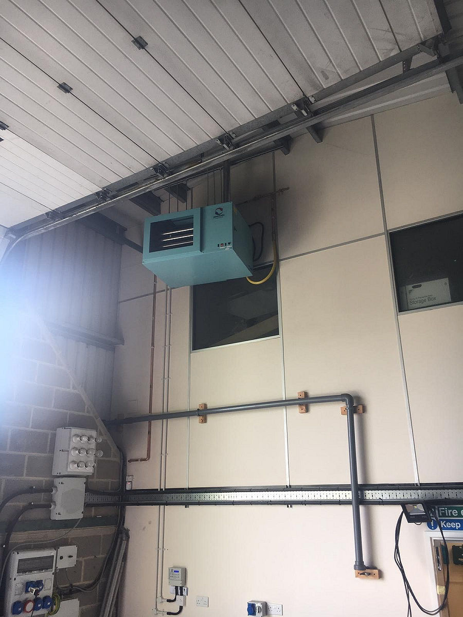 Gas Fired Unit Heater Installation (2)