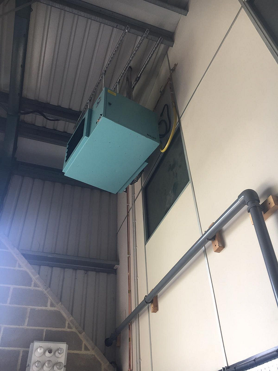 Gas Fired Unit Heater Installation (6)